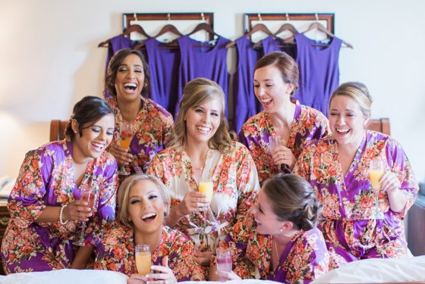 Bride-And-Bridesmaids-On-Bed