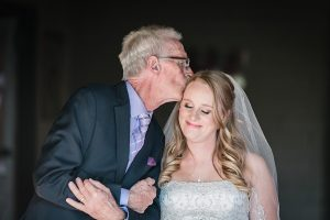 Dad and Daughter Wedding Day