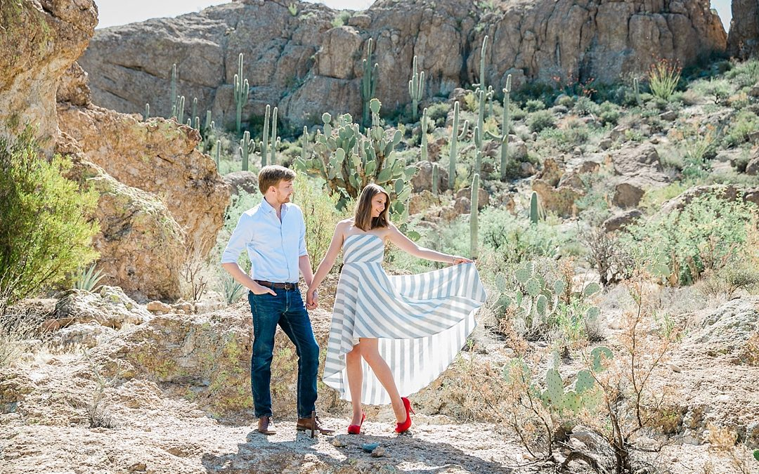Zach + Lejla | Boyce Thompson Arboretum Engagement Session