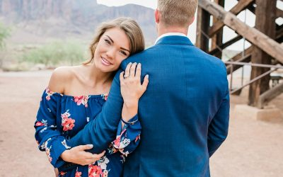 Tristan + Hayley | Engagement Session | Goldfield Ghost Town