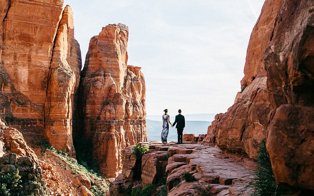 Epic Cathedral Rock Engagement Photos