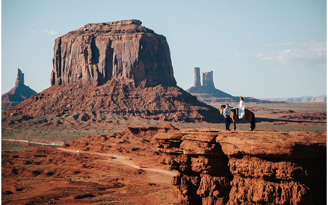 Epic Monument Valley Engagement Photos
