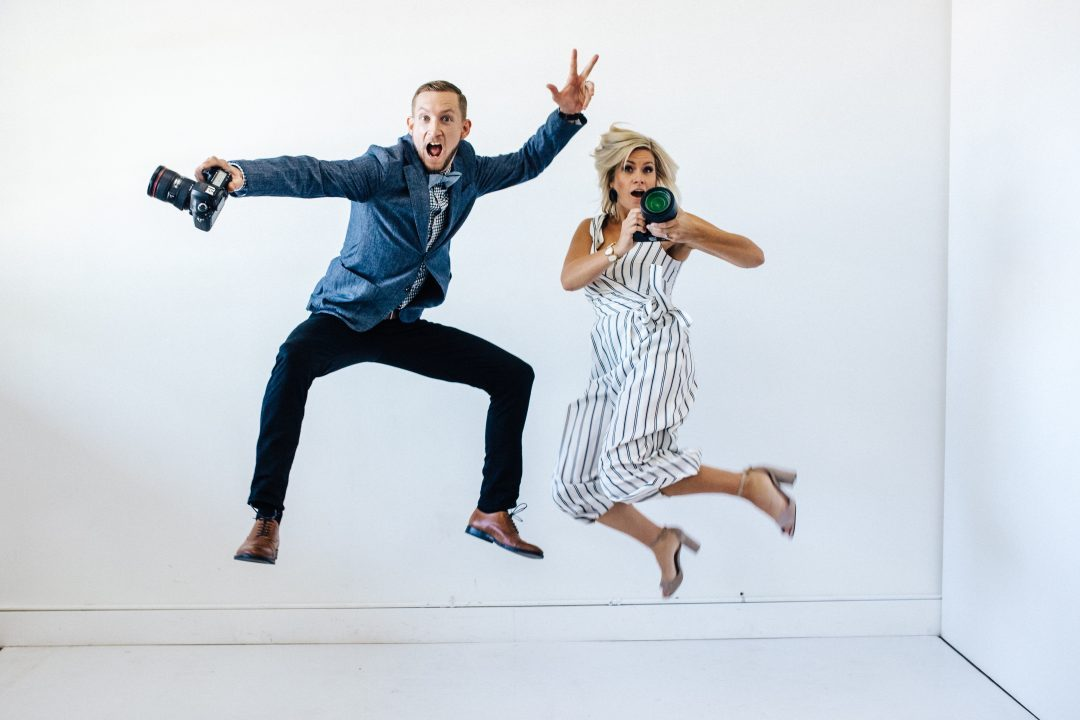dana and joe jumping - phoenix arizona wedding photographers