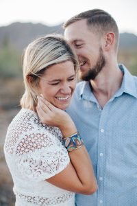 joe and dana from Buchanan Photography close up laughing portrait