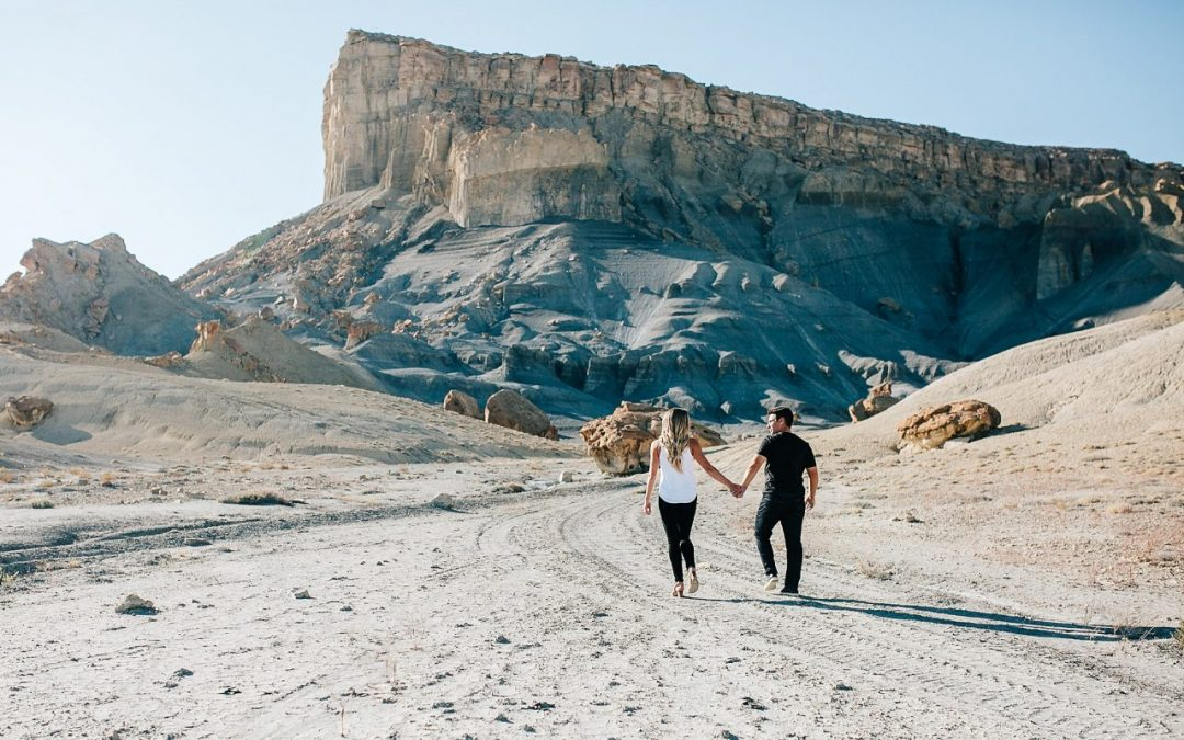 playful lake powell engagement session