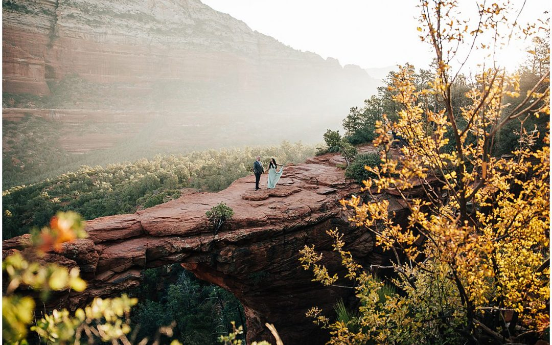 devils bridge engagement photos